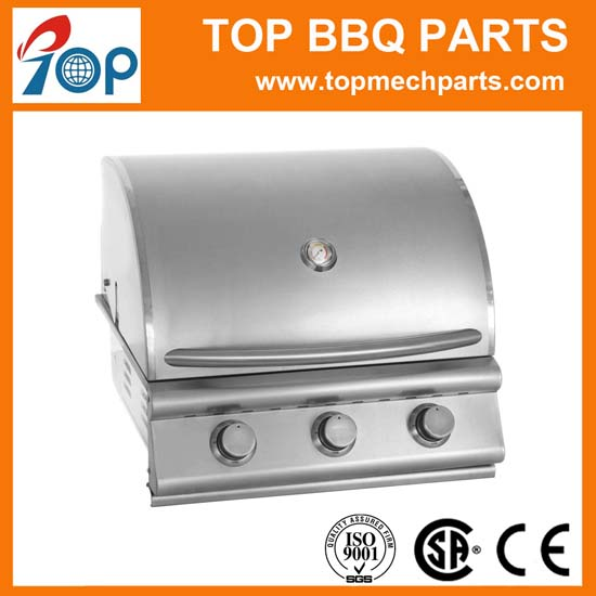 Outdoor & Indoor 3 Burners Gas Grill in Stainless Steel